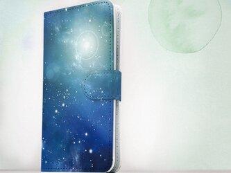 全機種対応 手帳型 スマホケース iPhoneXs iPhone9 iPhoneXs Max星空 ティマイオスのブルーの画像