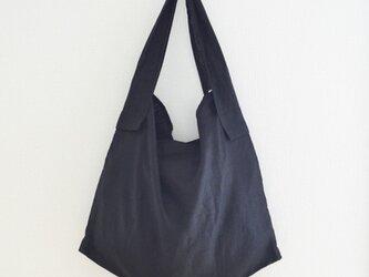 リネンショルダーバッグ(黒)の画像