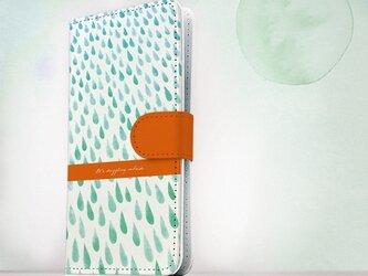全機種対応 手帳型 スマホケース iPhoneXs iPhone9 iPhoneXs MaxiPhoneX 雨 柔らかい雨の画像