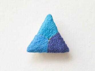 【9/8再出品】三角ブローチ かわせみの画像