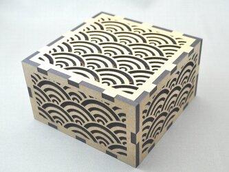 ~和柄コースター~ 青海波(せいがいは)模様 12枚セット 青海波模様のオリジナルの箱付。の画像