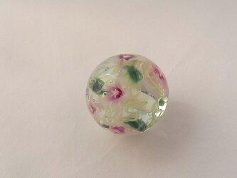 ミルフルール球・ムクゲ2・ガラス製・とんぼ玉の画像