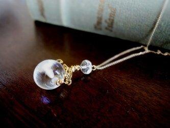 硝子の蜻蛉玉■アラベスクドロップのデザイン、チェーンネックレスの画像