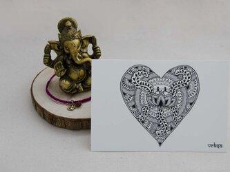 ハートデザインのポストカード(3枚1組)の画像