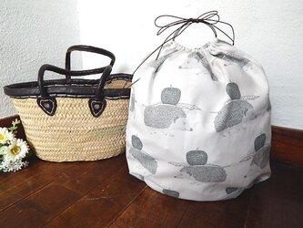 バッグインバッグ巾着 ハリネズミの画像