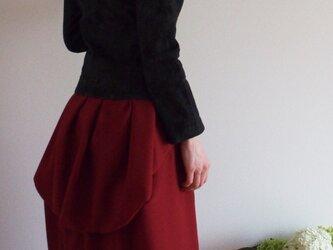 エレガントバッスルスカート 赤Debora の画像