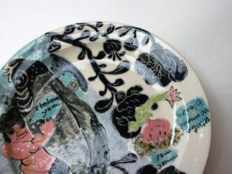 歌川国芳の金太郎とEmilyのお皿 /陶芸家/陶器/金太郎/キッズ食器/potteryの画像