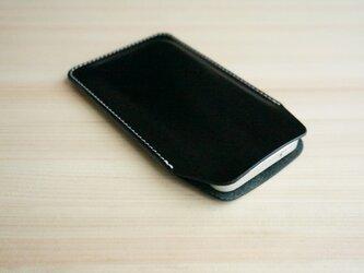 iPhone レザー スリーブケース ブラック(XS/X/8/8Plus/7/7Plus/SE/6/6s/6Plus)の画像