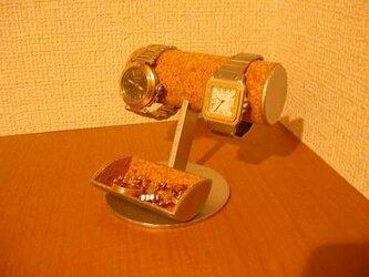 腕時計収納、保管!小物入れ付き腕時計スタンドの画像