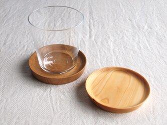 コースター 楢材と檜材のセットの画像