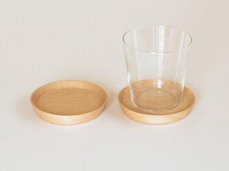 木製コースター シナ材1 2枚セット 丸型の画像