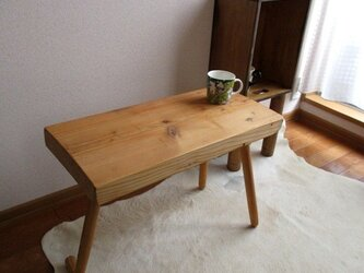 【木工部再開】アンティーク風リメイク家具 お部屋のカフェテーブルの画像