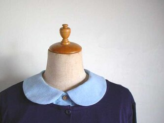 丸襟ダンガリー生地の付け襟の画像