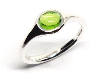 8月誕生石ペリドットリング・ミニマルSV925【Pio by Parakee】peridot minimal ringの画像