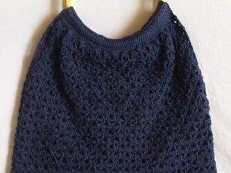 『hibi』透かし編みグラニー(紺)の画像