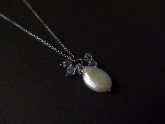 【silver925】アンティーク風パールペンダント その2の画像