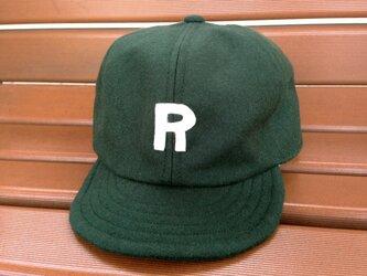 アルファベットキャップ カラーフラノ生地 『R』の画像