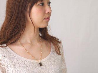 スモーキークォーツトップのネックレスの画像