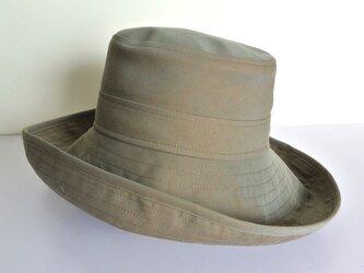 N様オーダー商品 M.10 つば広帽子 オリーブの画像