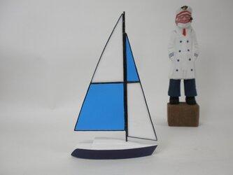 帆船模型 ヨット ステンドグラスセイル Aの画像