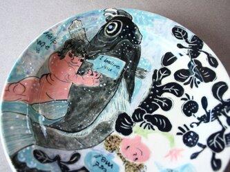 歌川国芳/金太郎とEmilyのお皿 /陶芸家/陶器/金太郎/Japanese ceramic/potteryの画像