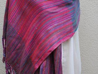 シルク手織ストールUの画像