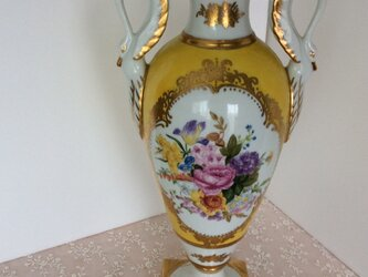 スワン手つき飾り壺(花束)の画像
