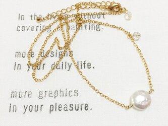 ○tiny○コインパールのネックレスの画像