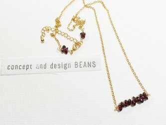 ○berry○ガーネットネックレスの画像
