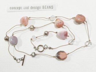 ○drop○シルク糸のネックレスの画像