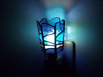 ステンドグラス おやすみライト「渚 (2)」の画像
