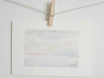 うすピンク色に染まった空と海 / postcard 2枚組の画像