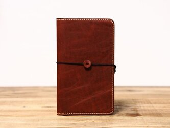 野帳サイズのノートカバー(ブラウン)の画像