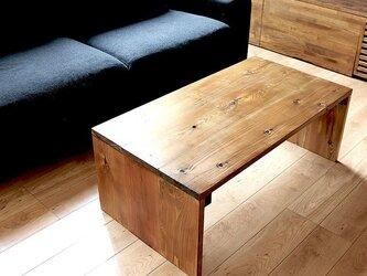 コの字型 シンプルコーヒーテーブル 幅90cmタイプの画像