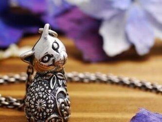 MIKAERI BINEKO BOTANICAL DOODLE / 見返り美猫 ボタニカル ドゥードル ペンダントの画像