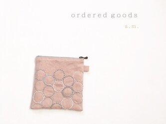 セミオーダー品(270716i)※ポーチ[花蕾]桜貝色の画像