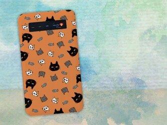 【モバイルバッテリー】オレンジにゃんず for iPhone&Androidの画像
