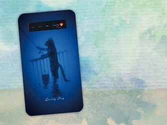 【モバイルバッテリー】雨の日は釣りに出かける猫 for iPhone&Androidの画像