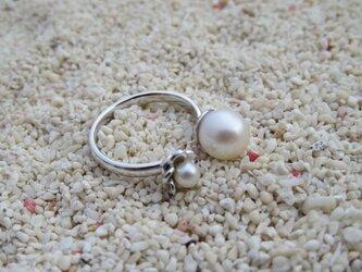 Pearl Flower Ring パールとプルメリアのフォークリングの画像