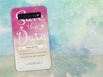 【モバイルバッテリー】Save the date 素晴らしい一日 for iPhone&Androidの画像