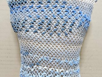 ノースリーブセーター:ブルー系の画像