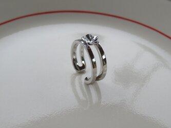 Single Plumeria Ring シンプルなプルメリアのリングの画像