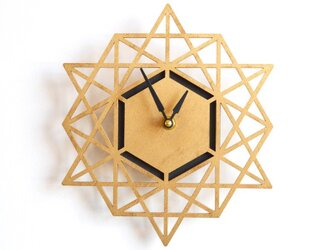 Modern Geometry モダン・ジオメトリーの掛け時計(GOLD)の画像
