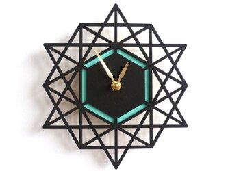 Modern Geometry モダン・ジオメトリーの掛け時計(AQUA)の画像
