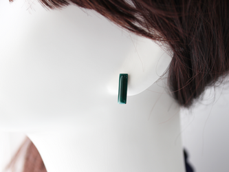 sippo stick  emerald      七宝焼きビアス (イヤリングへの変更可)の画像