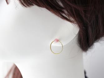 door knock jade [pink rose] ピアスの画像