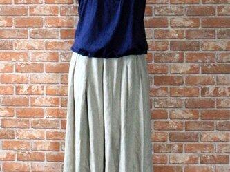 K様ご予約品 ヨーロッパリネンタックギャザースカートの画像