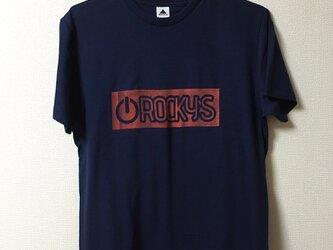 【Power on】Rocky's オリジナルTシャツ ネイビーの画像