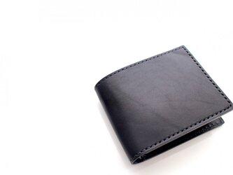 【受注生産品】二つ折り財布 〜栃木ブラックサドル オールブラック〜の画像