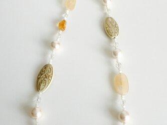 コットンパールデザインネックレス の画像
